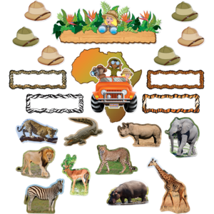 TCR5221 Safari Bulletin Board Display Set Image
