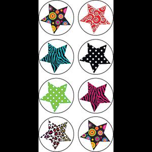 TCR5259 Fancy Stars Mini Stickers Image