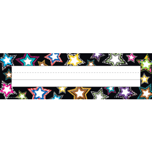 TCR5261 Fancy Stars Flat Name Plates Image