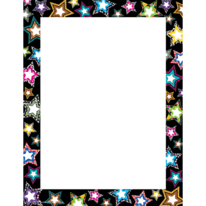 TCR5262 Fancy Stars Computer Paper Image