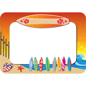 TCR5361 Surf's Up Name Tags/Labels Image
