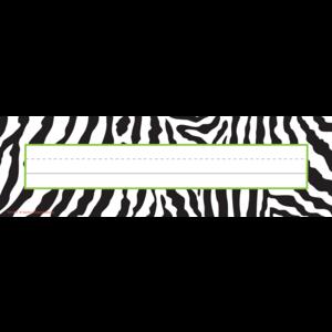 TCR5401 Zebra Flat Name Plates Image
