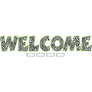 TCR5411 Zebra WELCOME Bulletin Board Display Set Image