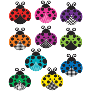 TCR5414 Colorful Ladybugs Accents Image