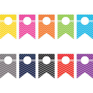 TCR5418 Chevrons and Dots Pennants Accents Image