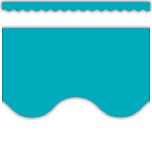TCR5450 Teal Scalloped Border Trim Image