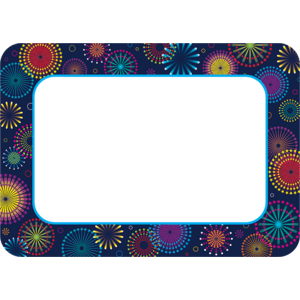 TCR5455 Fireworks Name Tags/Labels Image