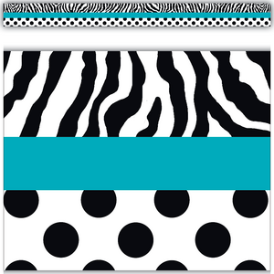 TCR5504 Zebra and Dots Straight Border Trim Image