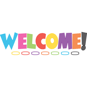 TCR5524 Chevron WELCOME Bulletin Board Display Set Image
