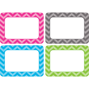 TCR5526 Chevron Name Tags/Labels - Multi-Pack Image