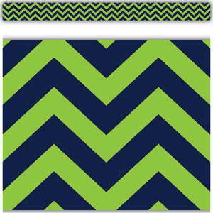 TCR5542 Navy & Lime Chevron Straight Border Trim Image