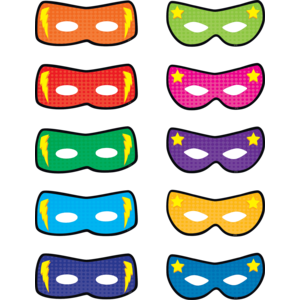 TCR5591 Superhero Masks Accents Image