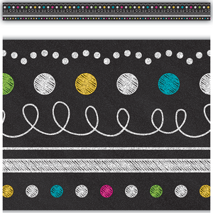 TCR5619 Chalkboard Brights Straight Border Trim Image