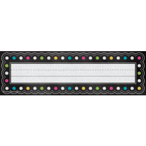 TCR5624 Chalkboard Brights Flat Name Plates Image
