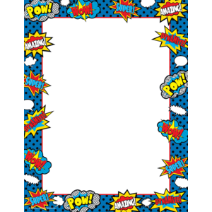 TCR5629 Superhero Computer Paper Image