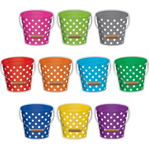 TCR5631 Polka Dots Buckets Accents Image