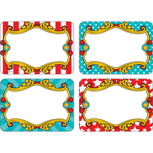 TCR5709 Carnival Name Tags/Labels - Multi-Pack Image