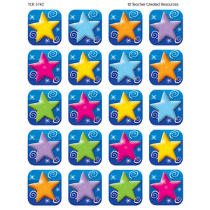 TCR5742 Colorful Stars Stickers Image