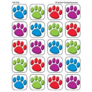 TCR5746 Colorful Paw Prints Stickers Image