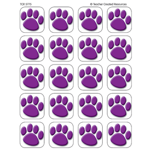 TCR5775 Purple Paw Prints Stickers Image
