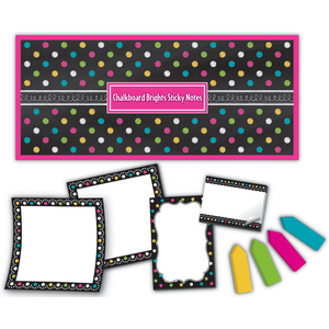 TCR5833 Chalkboard Brights Sticky Notes Image