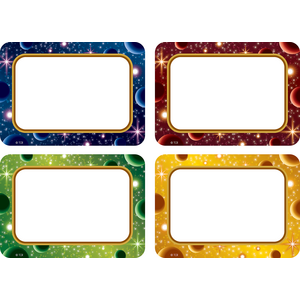 TCR5854 Stellar Space Name Tags/Labels Multi-Pack Image
