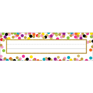 TCR5886 Confetti Flat Name Plates Image