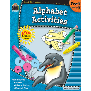 TCR5918 Ready-Set-Learn: Alphabet Activities PreK-K Image