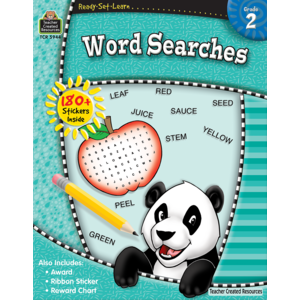 TCR5944 Ready-Set-Learn: Word Searches Grade 2 Image