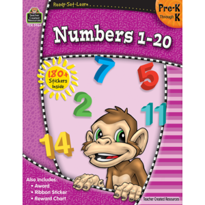 TCR5964 Ready-Set-Learn: Numbers 1-20 PreK-K Image