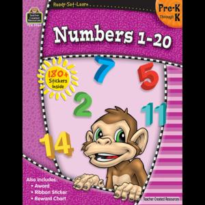 Ready-Set-Learn: Numbers 1-20 PreK-K Image