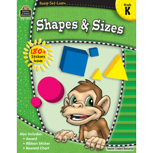 TCR5970 Ready-Set-Learn: Shapes & Sizes Grade K Image