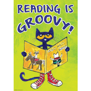 TCR63929 Pete the Cat Reading Is Groovy Positive Poster Image