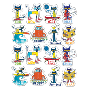 TCR63935 Pete the Cat Stickers Image