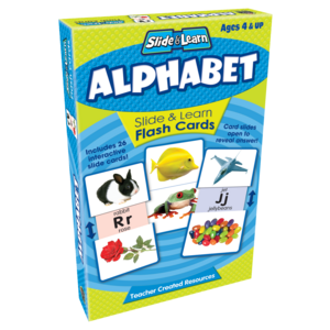 TCR6553 Alphabet Slide & Learn Flash Cards Image