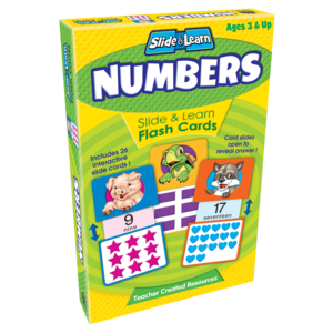 TCR6554 Numbers Slide & Learn Flash Cards Image