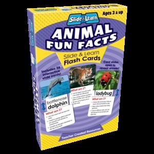 Animal Fun Facts Slide & Learn Flash Cards Image