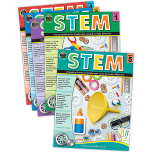 TCR6898 STEM: Engaging Hands-On Activities Set Grades 1-5 Image