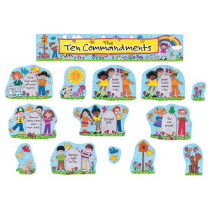 TCR7000 Children's Ten Commandments Bulletin Board Display Set Image