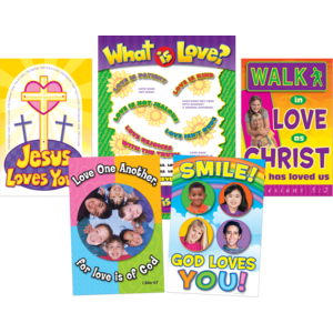 TCR7037 God is Love Bulletin Board Display Set Image