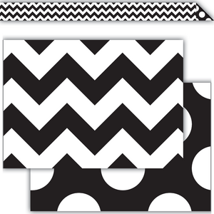 TCR73174 Black & White Chevrons Double-Sided Border Image