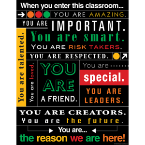 TCR7545 When You Enter this Classroom...Subway Art Chart Image