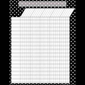 Black Polka Dots Incentive Chart Image