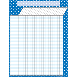 TCR7621 Blue Polka Dots Incentive Chart Image