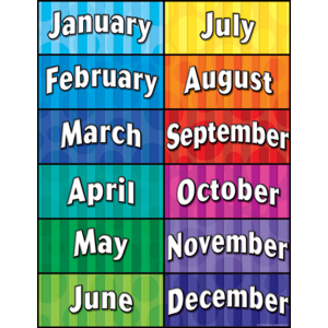 TCR7628 Months of the Year Chart Image