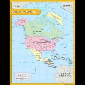 TCR7655 North America Map Chart Image