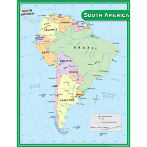 TCR7656 South America Map Chart Image