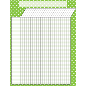 Lime Polka Dots Incentive Chart Image