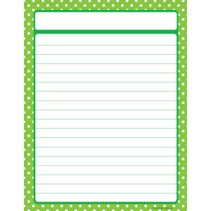 Lime Polka Dots Lined Chart Image