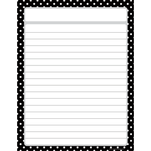 TCR7677 Black Polka Dots Lined Chart Image